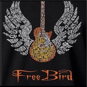 NEW Graphic Freebird LA Pop Art/wort art T-shirt